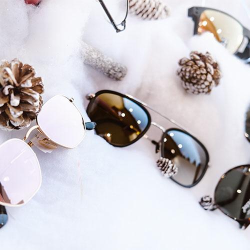 concours de noel emypaul opticien vernon lunettes sur fausse neige